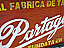 partagas factory sign close up image
