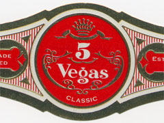 5 Vegas classic churchills cigars band image