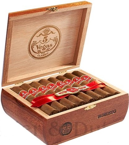 5 vegas churchill classic cigars box open image