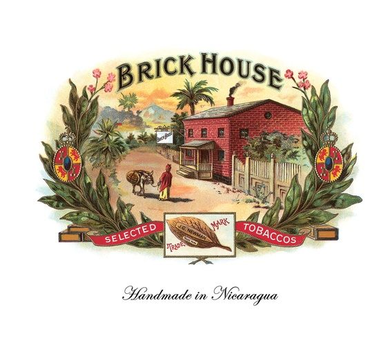 Brick House Fumas Cigar Box Label, Matted, 8 x 10 image