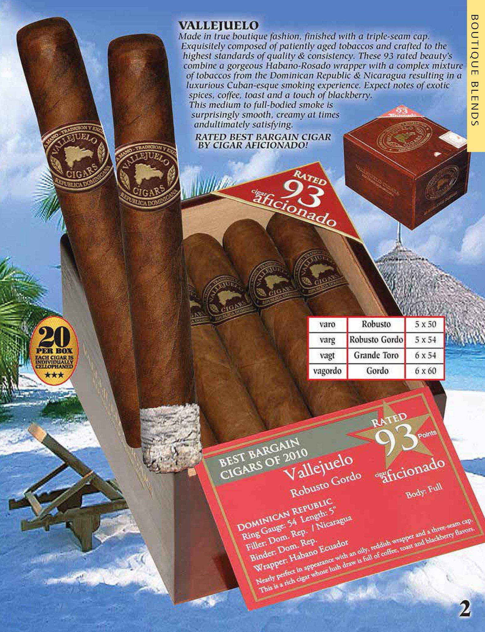 Vallejuelo Robusto - Pack of 20 image