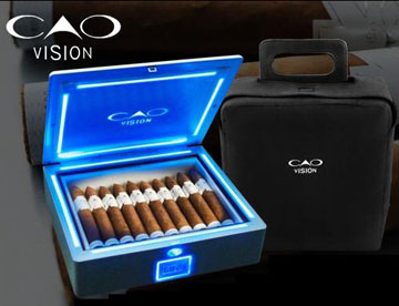 cao vision cigars box in dark image