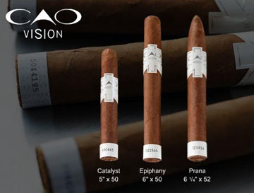 CAO Vision Prana, Torpedo,  2 Pack - Ranked 9th Best Cigar of 2007 image