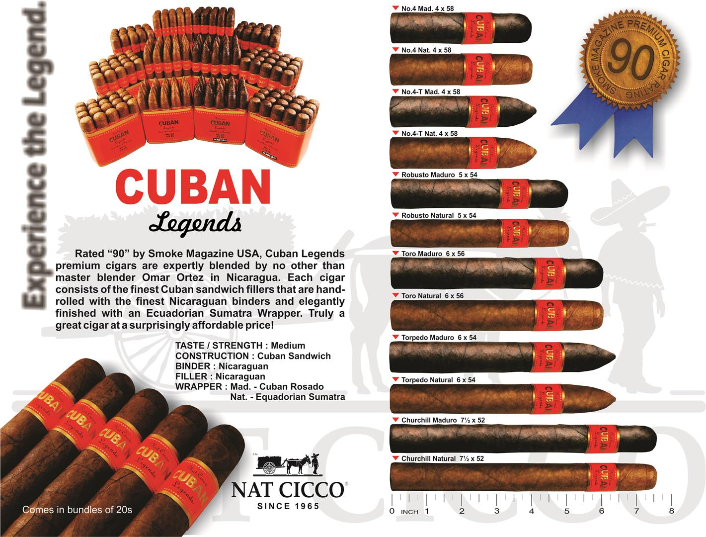 Cuban Legends No. 4, Natural - Bundle of 20 image
