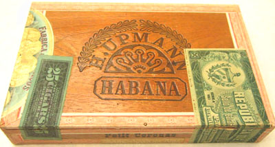 Vegas Robaina Cuban Cigar Warranty Seal Print - Matted & Framed image