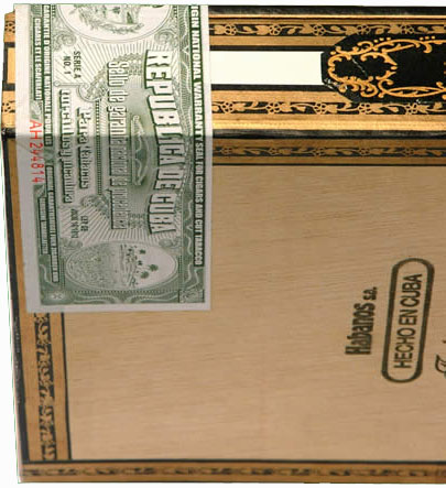 Hoyo De Monterrey Cuban Seal Travel Case Humidor - Napa Leather image