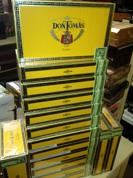 don tomas cigars boxes stack image