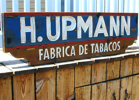 h. upmann vintage cigar factory sign image