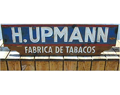 h. upmann factory vintage sign image