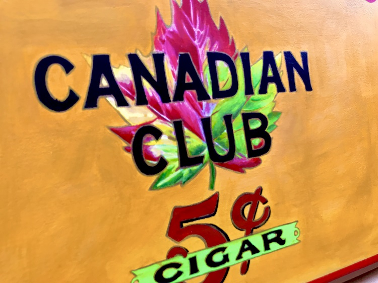 canadian club 5 cent cigars art image