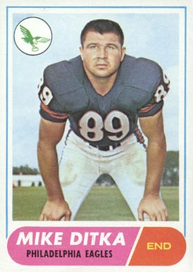mike ditka eagles card image