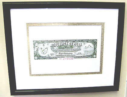 Diplomatico Cuban Cigar Warranty Seal Print - Matted & Framed image