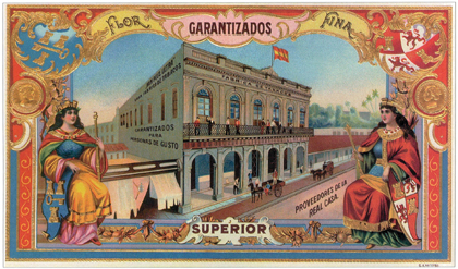 MG Garantizados Cuban Cigar Factory Label Print - Matted & Framed image