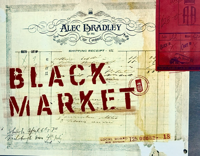 alec bradley black market cigar label image