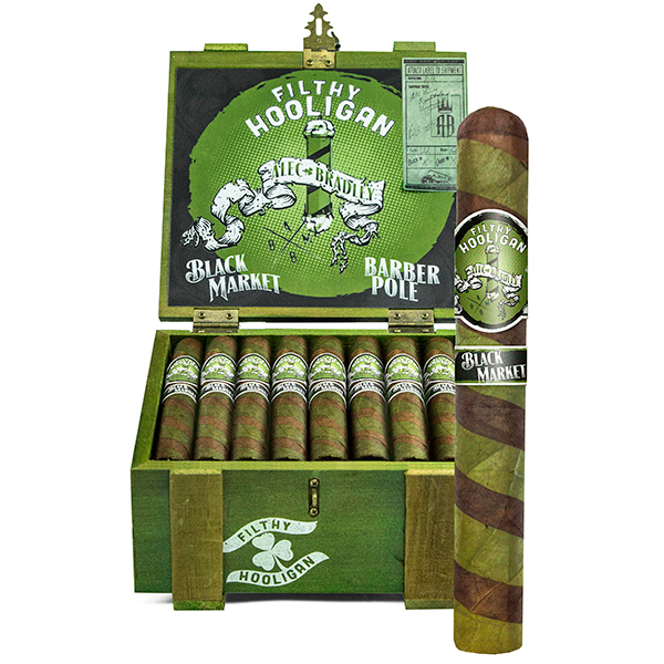 Alec Bradley Black Market Filthy Hooligan 2018, Barber Pole - 5 Pack image