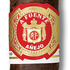 arturo fuente anejo cigars band close up image