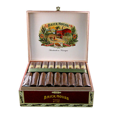 brick house toro cigars box open image