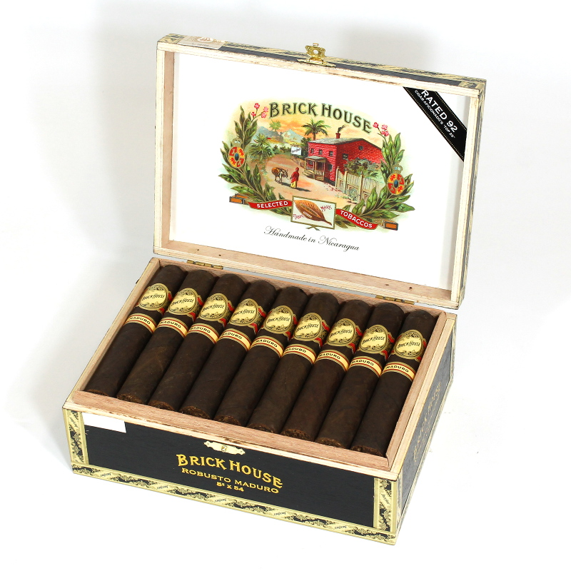 brick house maduro robustos cigars box open image