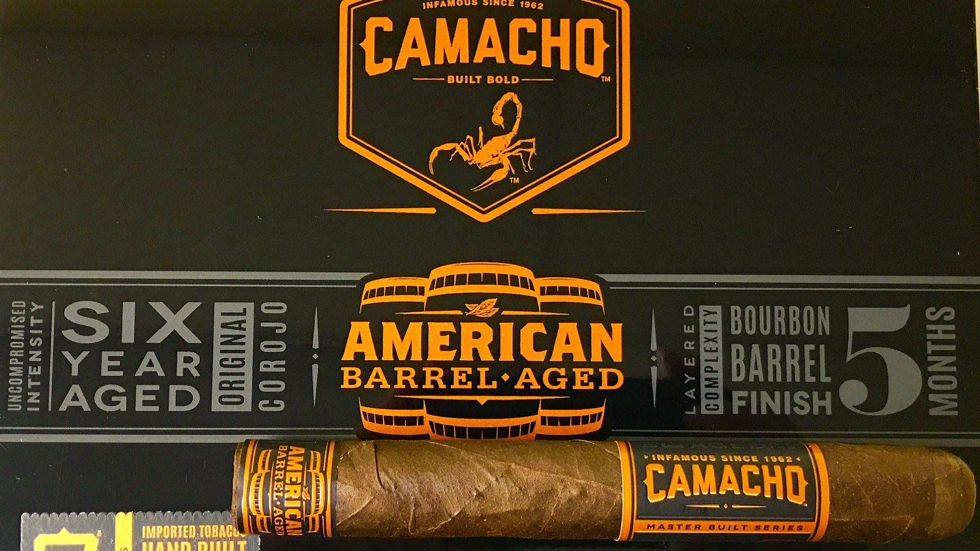 Camacho American Barrel Aged Robusto - 5 Pack image