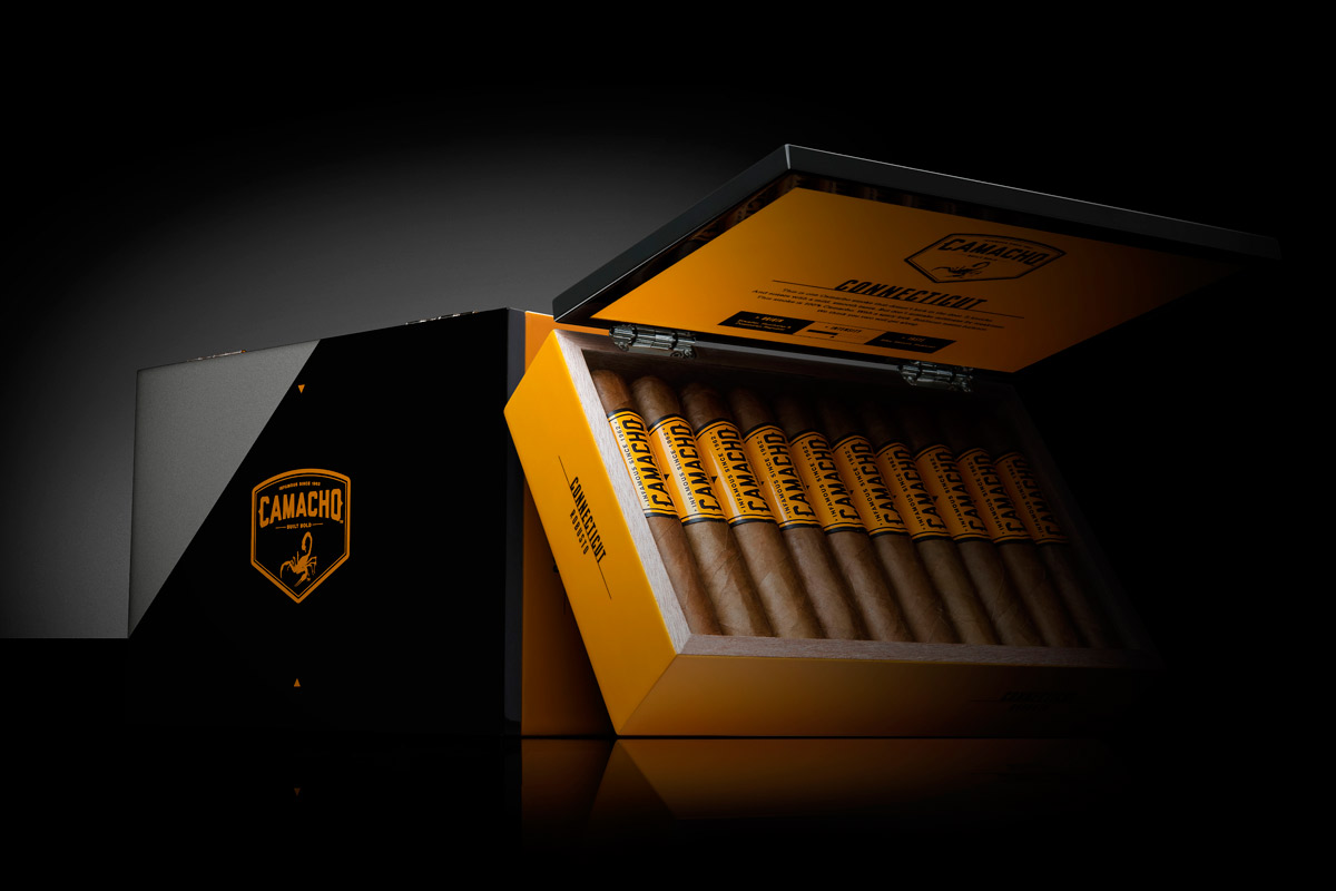 camacho connecticut robusto cigars box image