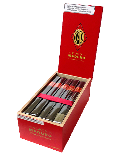 cao anniversary maduro churchill cigars box image