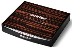 cohiba macassar cigar box closed image