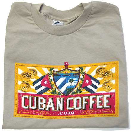 CC Cuban Coffee Logo T-Shirt - Tan image