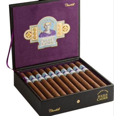 diamond crown julius caeser cigars box open image