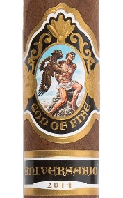 god of fire aniversario cigars band image