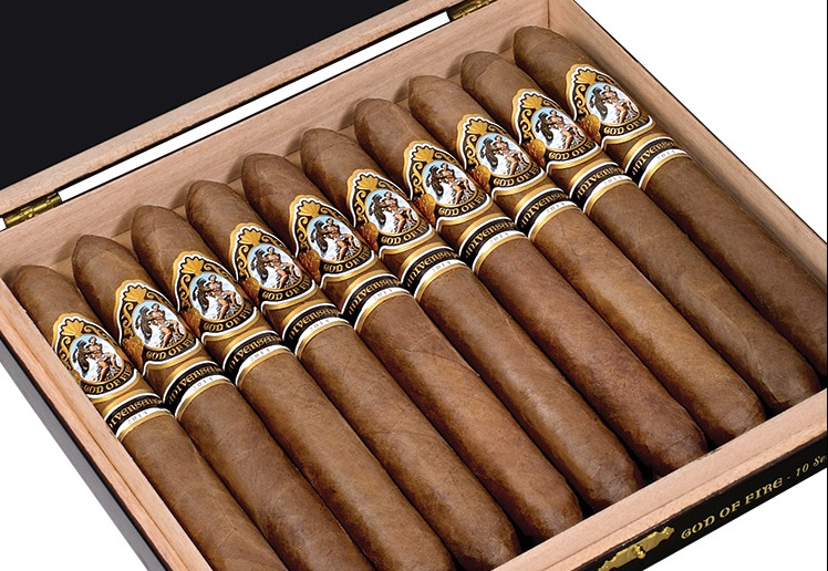 god of fire aniversario number 60 cigars box open image