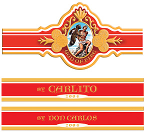 god of fire carlito cigars band image