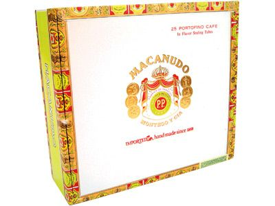 macanudo cafe cigars box lid image