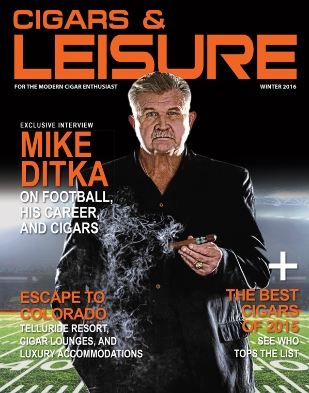 mike ditka cigars and leisure magazine image