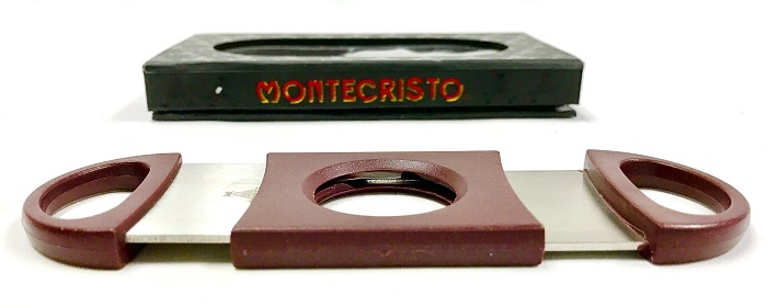Montecristo Logo Laser Engraved Double Bladed Cutter image