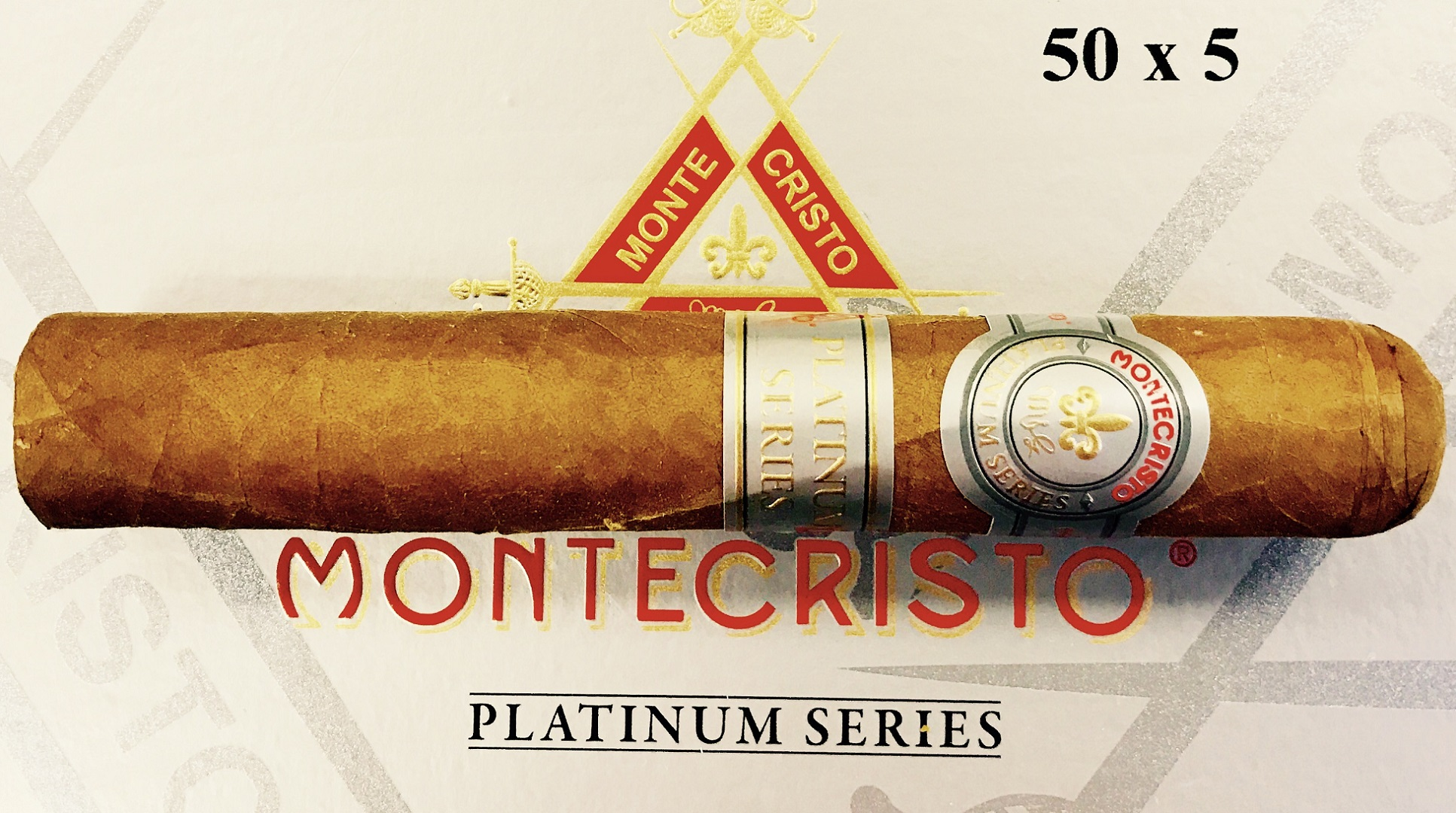 montecristo platinum cigar and box image