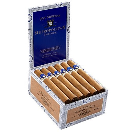 nat sherman metropolitan university cigars box image