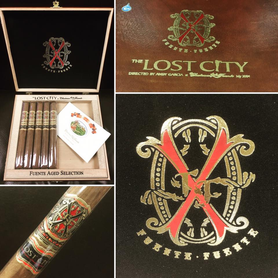 opus x lost city double robusto cigars collage image