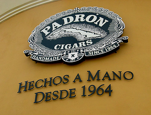 padron cigar factory sign image