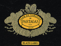 partagas black label coronas cigar label image