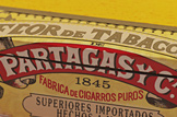 partagas black label cigar box front graphics image
