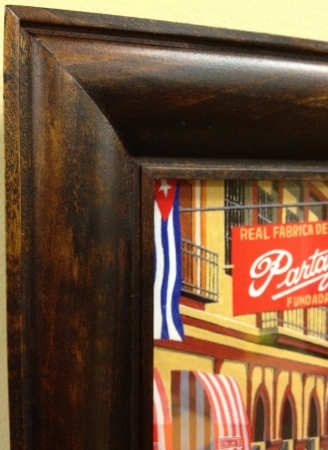 partagas cigars art framed close up image
