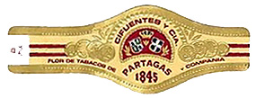 partagas spanish rosado cigar band image