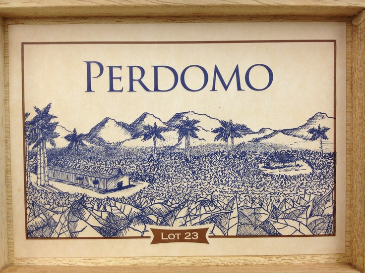 perdomo lot 23 cigars box lid image