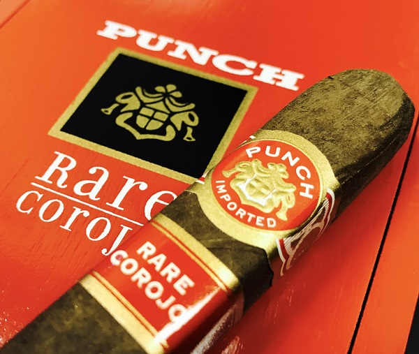 punch rare corojo cigars stick and box image