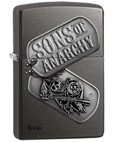 Sons of Anarchy by Black Crown SOA Dog Tags Zippo Lighter image