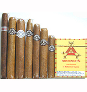 Montecristo White 7 Cigar Sampler, plus pack of Monte Minis