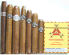 Handmade Montecristo 7 Cigar Sampler, PLUS 7 Monte Legends