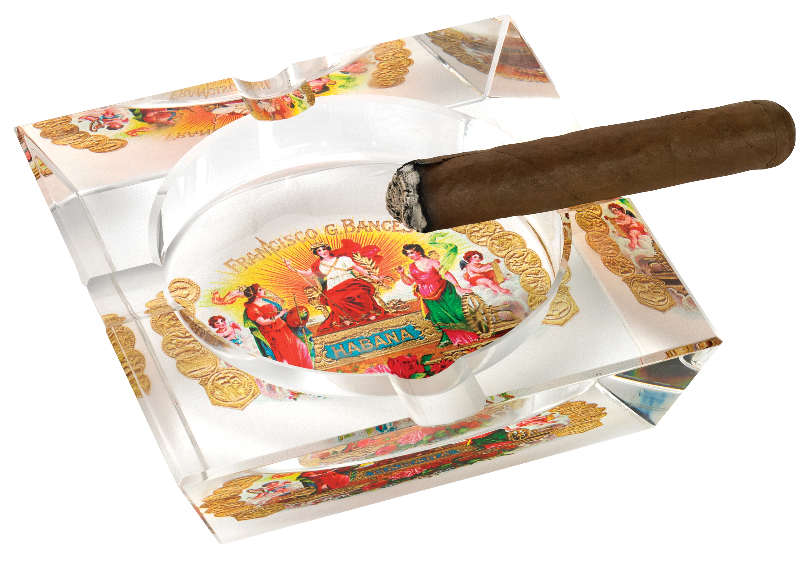 NEW!: Habana Crystal 4 Cigar Ashtray