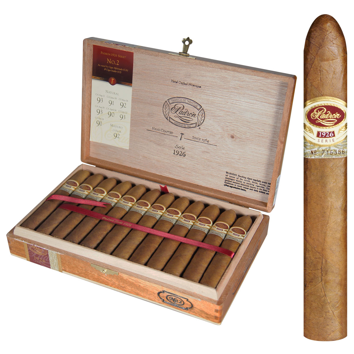 Padron Aniversario 1926 No. 2, Four Pack