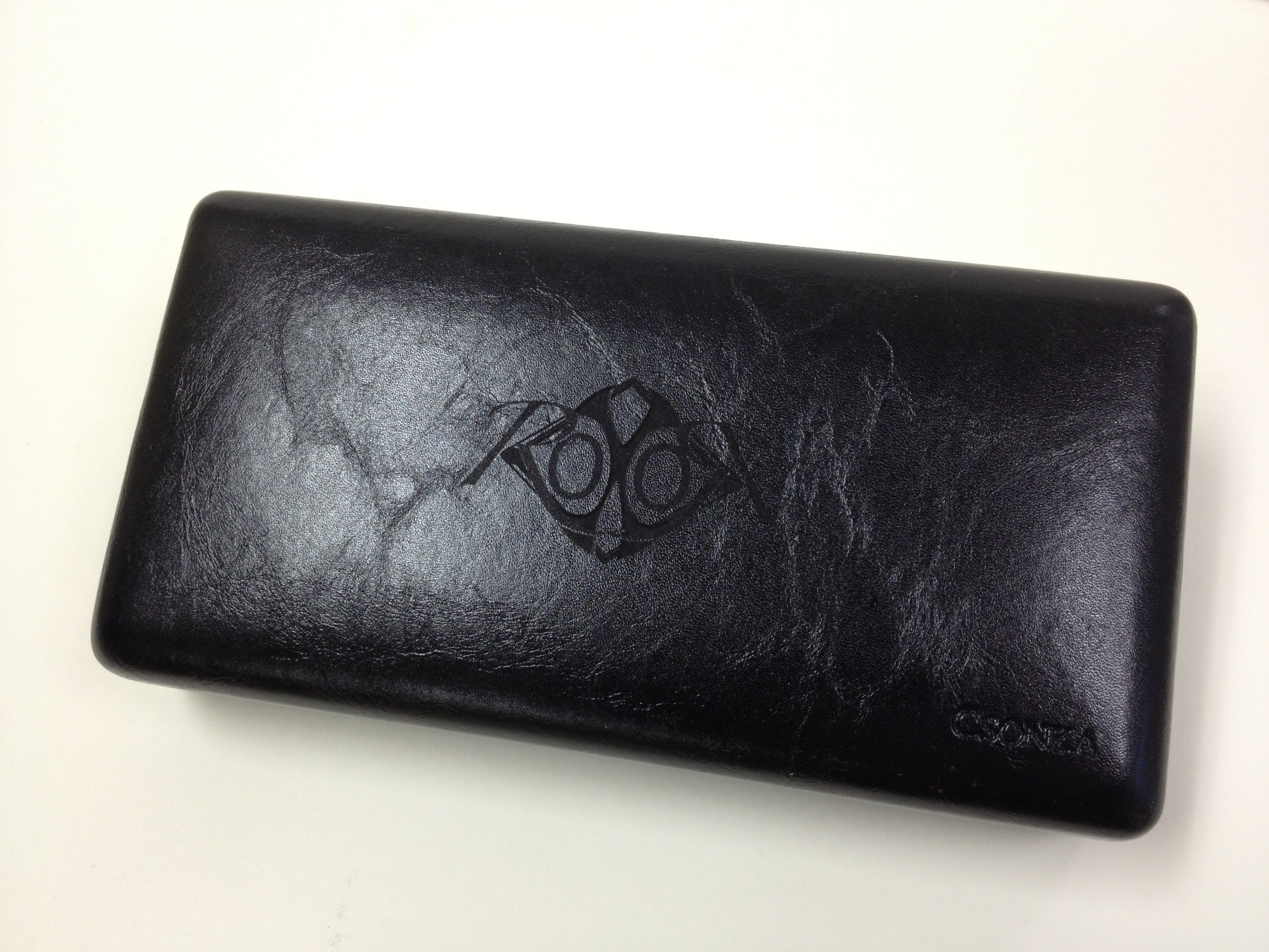Roxor Deluxe Connecticut Leather Travel Case - Black Leather